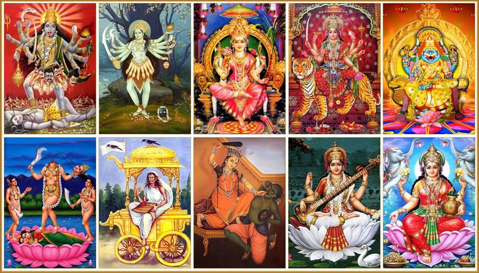 தச மஹா-வித்யாவின் பத்து விதமான சக்திகள்